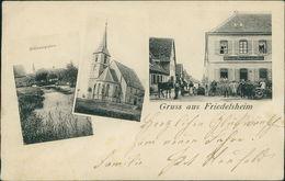 AK Friedelsheim Bei Wachenheim, Mehrbildkarte, O 1906, Einriss Rechts, Rückseitig überklebt, Druckstellen (23128) - Duitsland