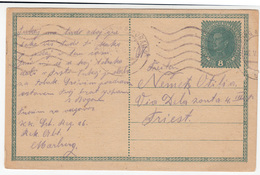 Austria Old Postal Stationery Postcard Travelled 1918 Marburg To Triest B170328 - Entiers Postaux