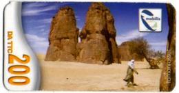 Phonecard Télécarte Mobilis Algérie Algeria - Tamanrasset Desert Sahara Telefonkarte Telefonica