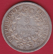 France 5 Francs Hercule 1877 K - France