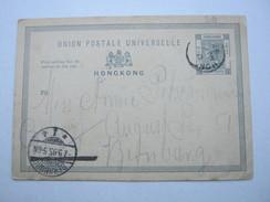 1895 , Hongkong , Postal Stationary Send To Germany - Hong Kong (...-1997)