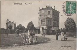 CPA 95 EZANVILLE Rond Point Commerce Café Animation 1906 - Ezanville