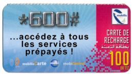 Phonecard Télécarte Mobilis Algérie Algeria - Accédez à Tous Les Services Prépayés Telefonkarte Telefonica - Algérie