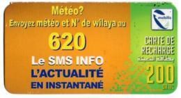 Phonecard Télécarte Mobilis Algérie Algeria - Météo Weather Tiempo Wetter Telefonkarte Telefonica