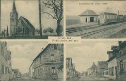 AK Friedelsheim Bei Wachenheim, Haltestelle Der Elektr. Bahn, Straßenbahn, Um 1910 (23140) - Tram