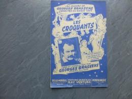 BRASSENS, Les Croquantes, 1954, Partition Ancienne ; Ref 193  PART 09 - Partitions Musicales Anciennes