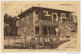 Carte Postale De La Villa Claude Rose à Cagnes Sur Mer Route De Villeneuve Loubet - Cagnes-sur-Mer