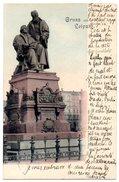 """CPA ALLEMAGNE - GRUSS Aus LEIPZIG ( 1899 ) - Statue Du Fondateur De La Secte """" Parpoullotte """" Luther - Leipzig"""