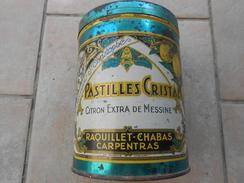 Boîte Métal Raquillet Chabas Hauteur 14,5 Cms Diamètre 11 Cms - Scatole