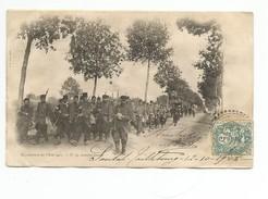 """C .P. A ( MANOEUVRES DE L´ EST 1901 """" Arrière Garde """" Carte Plan Très Animée ) - Manoeuvres"""