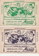 2 BUVARDS ILLUSTRES CHOCOLAT MENIER - - Chocolat