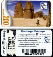 Phonecard Télécarte Mobilis Algérie Algeria - Model 2 - Tamanrasset Desert Sahara Telefonkarte Telefonica