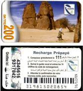Phonecard Télécarte Mobilis Algérie Algeria - Model 3 - Tamanrasset Desert Sahara Telefonkarte Telefonica