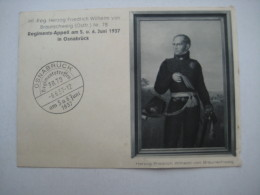 1937 , Propagandakarte Osnabrück - Regimentstreffen - Deutschland