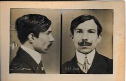 """Photo D'identité Judiciaire Face Profil (two Part Mug Shot) De Belonie De La """"bande à Bonnot"""" - Photos"""