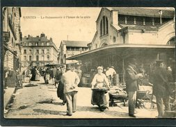 CPA - NANTES - La Poissonnerie à L'heure De La Criée, Très Animé - Nantes