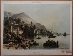 Superbe Lithographie Originale  -  NICE Et SAVOIE  -  MEILLERIE Sur Le Lac De Genéve - 1862 - Lithographies