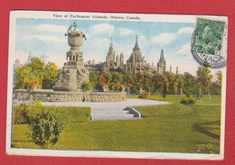 Ottawa  --  View Of Parliament Grounds - Ottawa