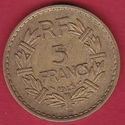 France 5 Francs Lavrillier Cupro-alu - 1945 C - France