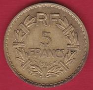 France 5 Francs Lavrillier Cupro-alu - 1946 - France
