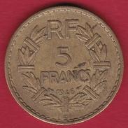 France 5 Francs Lavrillier Cupro-alu - 1946 C - France