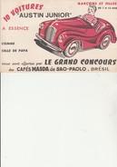 "BUVARD ILLUSTRE  ""CAFES MASDA DE SAO -PAOLO "" THEME AUTOMOBILE - Café & Thé"