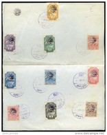 Essad Pasha, 1914. Stanley Gibbons #55-57, 59-61, 63-66. A Sheet With Ten Postage Stamps. Very Fine. - Albania