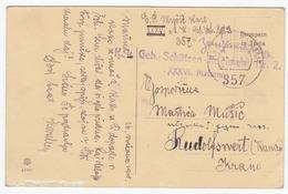 Austria K.k. Geb.-Schützen-Regiment Nr. 2 Feldpost Travelled 1915? Feldpost 357 Pmk B170328 - Covers & Documents