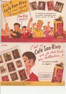 "2 BUVARDS  ILLUSTRES   ""CAFE SAN RIVO  "" - Café & Thé"