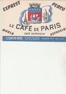 BUVARD - LE- CAFE DE PARIS - CLICHY SUR SEINE - Café & Thé
