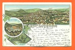 "CPA Lithographie Chromo  Weinheim "" Gruss Aus Weinheim "" Carte Precurseur  - LJCP 40 - Weinheim"