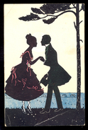 Couple / Postcard Circulated, 2 Scans - Scherenschnitt - Silhouette