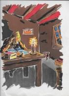 Lecture ,dessin De YERMEL,affichiste - Lithographies