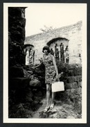 A2300 - Altes Foto - Vintage Mode - Große Junge Frau Im Klieid - Lange Beine Handtasche TOP - Moda