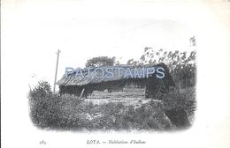 69388 CHILE LOTA BIOBIO COSTUMES INDIAN HOUSING SHIP VIAJE FRAGATA PHAETON FRANCE AÑO 1902 CARD NO POSTAL POSTCARD - Chile