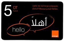 Phonecard Télécarte Orange Tunisia Tunisie Telefonkarte Telefonica