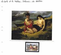La Carte Et Le Tableau - Delacroix - Les Natchez - Art