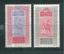Colonie Haut Sénégal Et Niger Timbres De 1914/17 N°27 Et 28  Neufs * - Haut-Senegal-Niger (1904-1921)