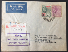 British Guiana To Honduras First Flight Cover 1931- Only 29 Flown RR!