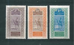 Colonie Haut Sénégal Et Niger Timbres De 1914/17 N°31 A 33  Neufs * - Haut-Senegal-Niger (1904-1921)
