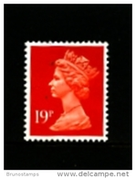 GREAT BRITAIN - 1988  MACHIN  19p.  ACP  LITHO  MINT NH  SG X1013 - 1952-.... (Elisabeth II.)
