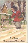 De DOUR Bons Souhaits De Bonne Année - Cachet De La Poste 1951 - Dour