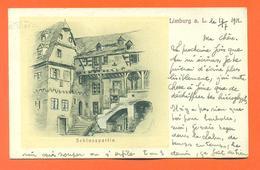 """CPA Lithographie  Limburg """" Schlosspartie """" LJCP 40 - Limburg"""