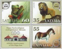 Latvia 2012 Mih. 831/33 Fauna. Riga Zoo. Lion. Horse. Frog MNH ** - Latvia