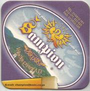 Sampion Pivo Beer Coaster From Vrsac Brewery Yugoslavia Serbia - Beer Mats