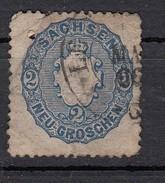 Saxe YT N°16  2k Bleu - Saxe
