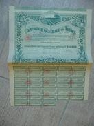 Cie Générale Des Tabacs- Action 250 F 1923 - Agriculture