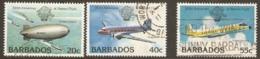 Barbados 1983 SG 726,7,8 Anniversary Manned Flight Fine Used