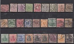 Empire Lot De 27 Timbres Avant 1918 - Allemagne