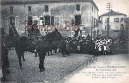 (57) Entrée Des Français à Chateau Salins Novembre 1918 - Général Daugan à Cheval - Chateau Salins